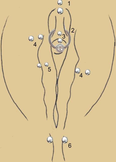 Christina intim pircing Female Genital